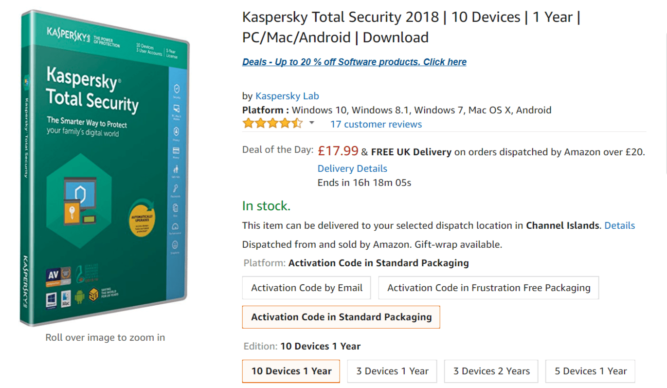 Kaspersky Total Security Registration key